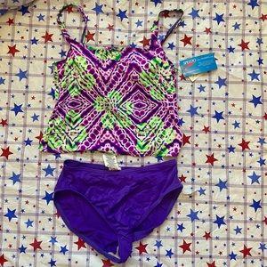 Speedo Tankini and Bottom Swimsuit Set Size 12
